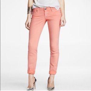 Express Blush Colored Stretch Mid Rise legging